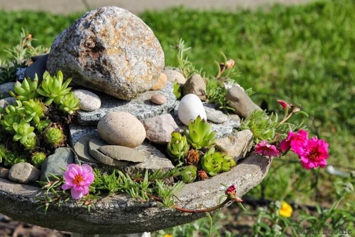 Birdbath Rock Garden