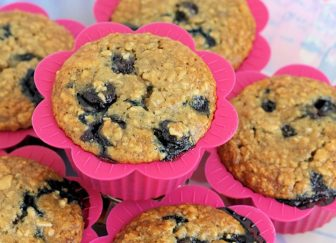 Blueberry Burst Banana Oatmeal Muffins