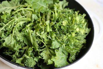 broccoli rabe braising