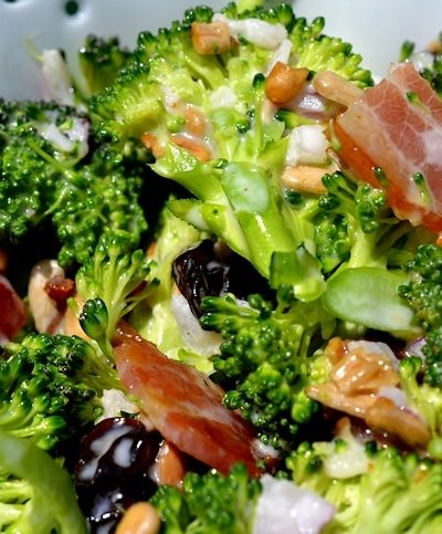 Broccoli Salad with Bacon Recipe, includes Low-Carb Version