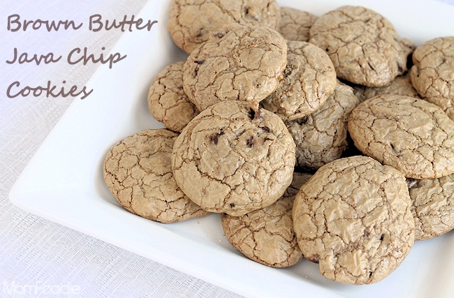 brown butter java chip cookies