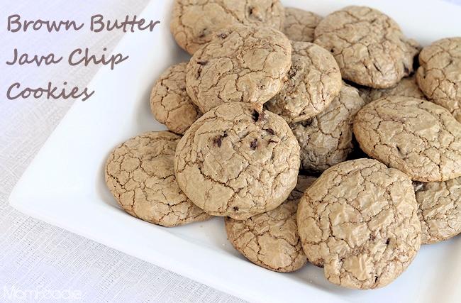brown butter java chip cookies