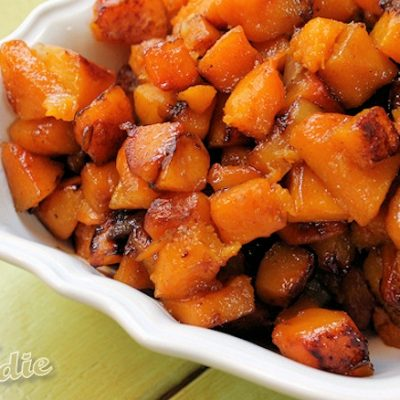 Roasted Apple-Butternut Squash with Maple Cardamom Glaze