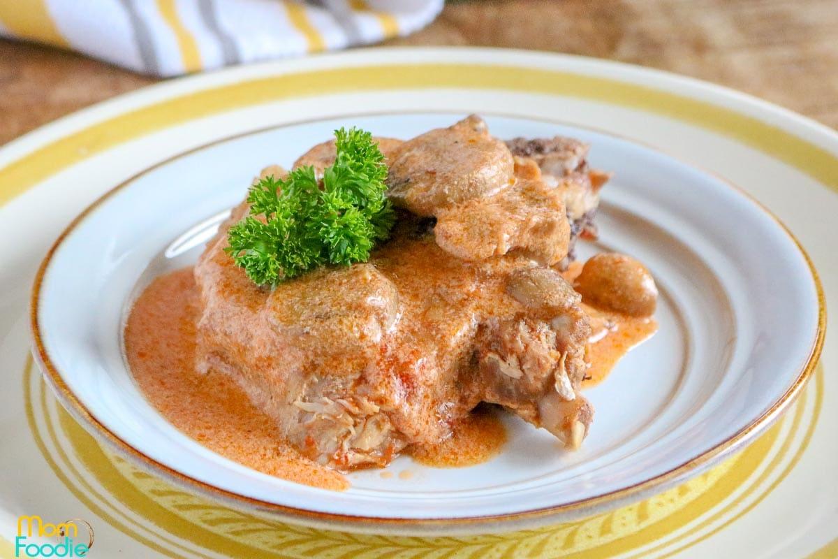 Instant Pot Pork Chops Keto Tomato Cream Sauce