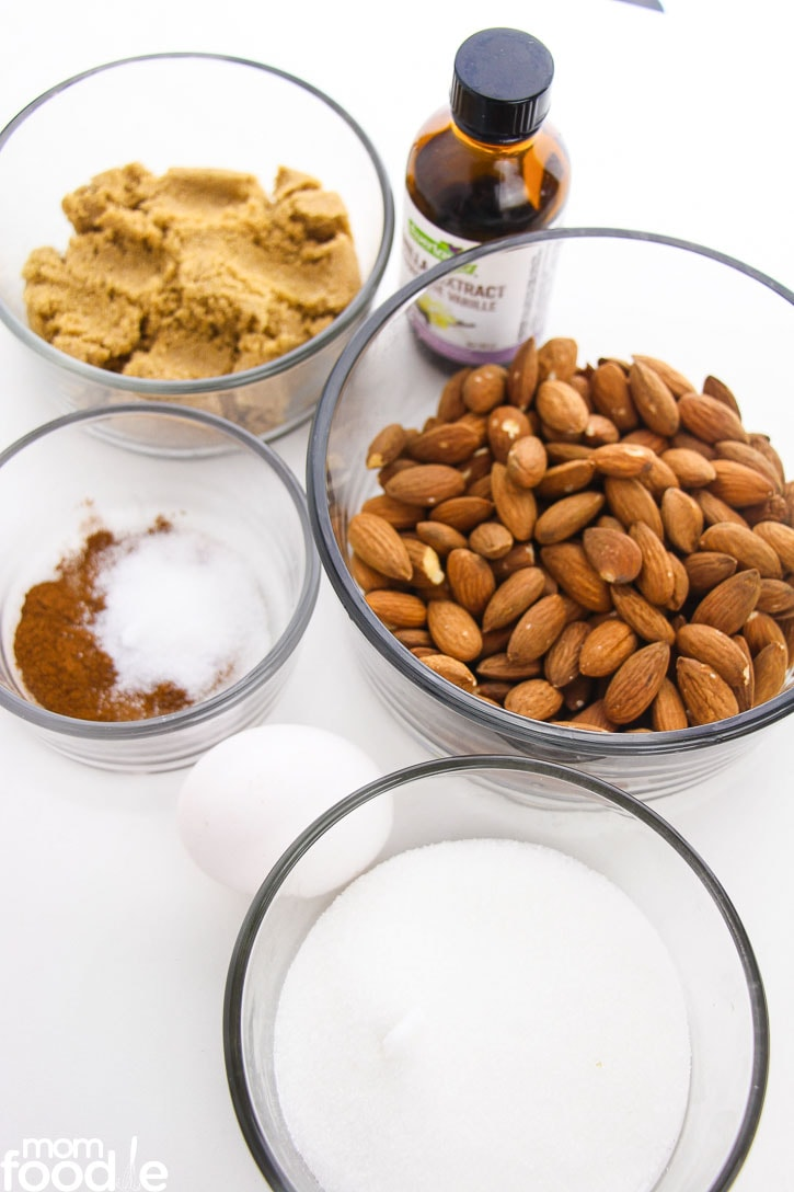 ingredients for candied almonds