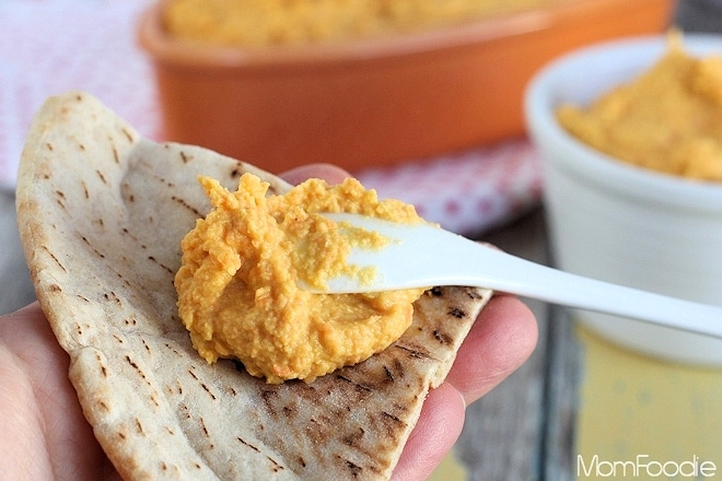 carrot chick pea spread