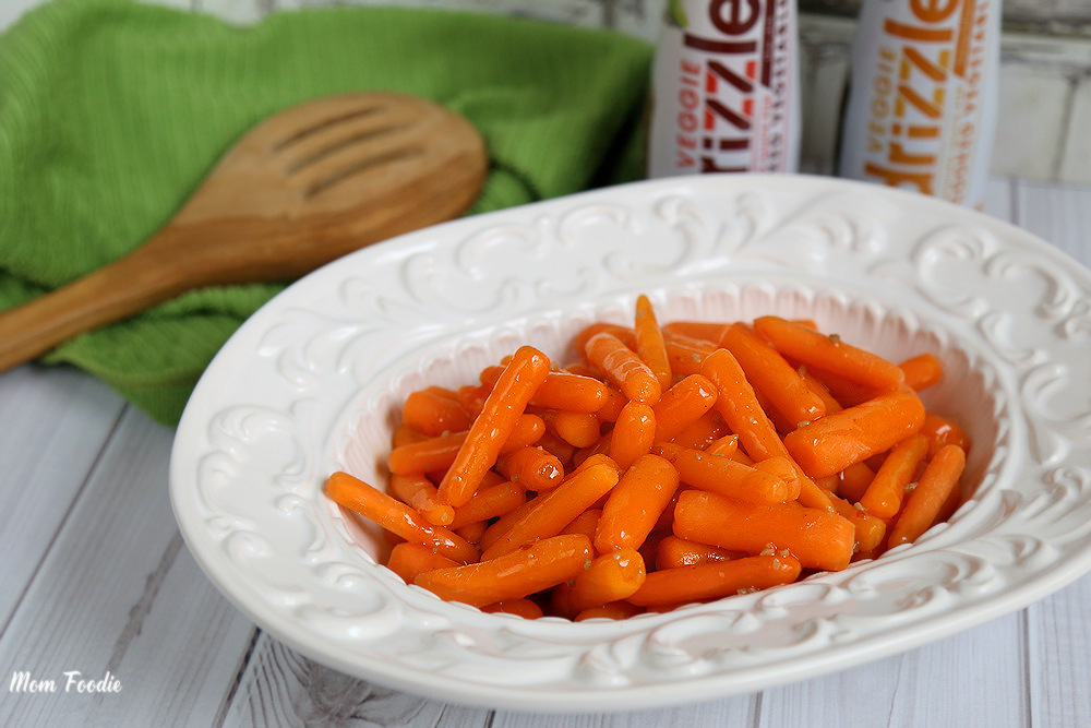 carrots in drizzle
