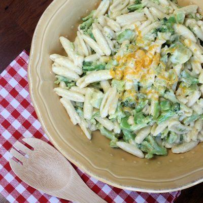 Easy Cheesy Broccoli Cavatelli Recipe