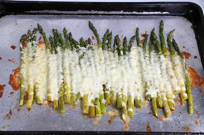 cheesy asparagus baked