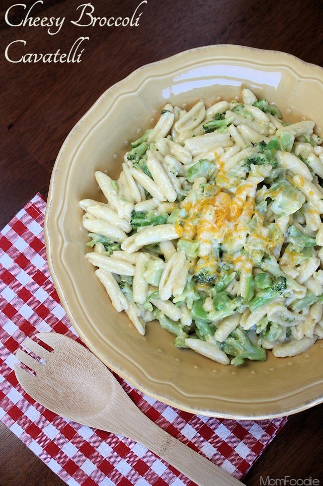 cheesy broccoli cavatelli recipe