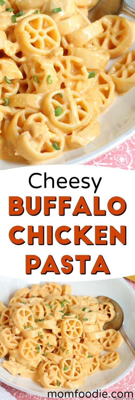 Cheesy Buffalo Chicken Pasta - easy recipe
