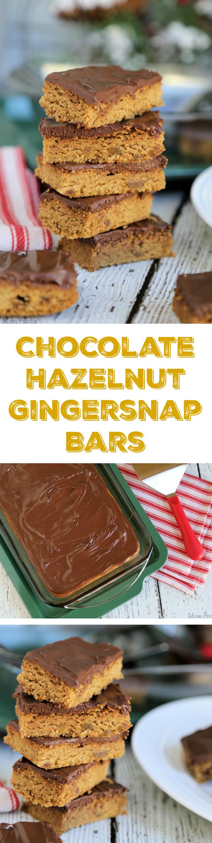 Chocolate Hazelnut Gingersnap Bars - Mom Foodie