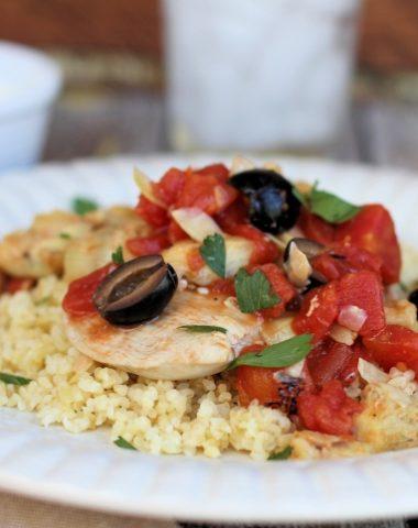 chicken artichokes olives tomato bulgur recipe
