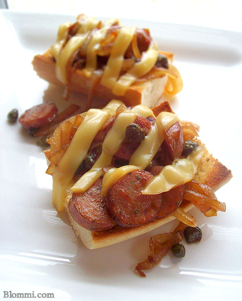 Chicken Sausage Bruschetta