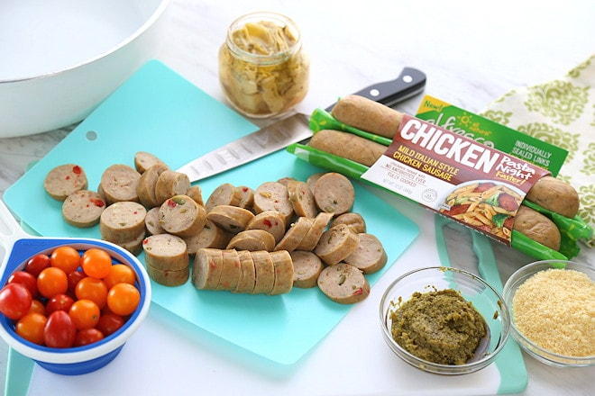 chicken sausage pesto pasta ingredients