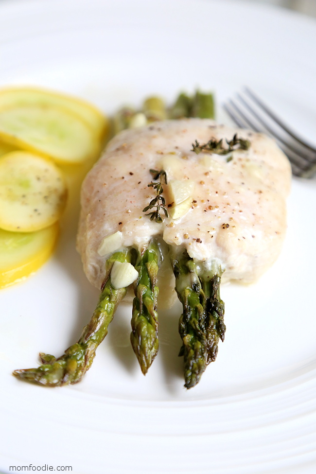 chicken stuffed with asparagus and cheese
