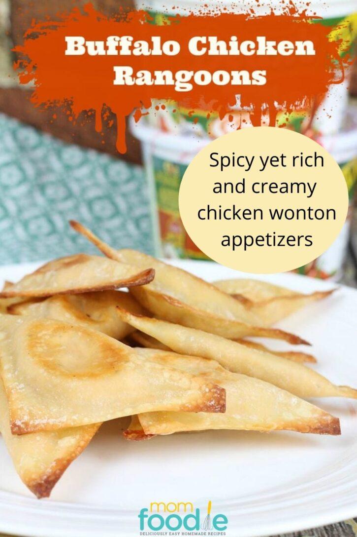 Buffalo Chicken Rangoons wonton appetizers
