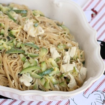 Creamy Parmesan One-Pot Chicken and Zucchini Angel Hair