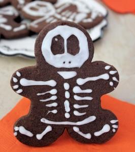 Bittersweet Chocolate Skeleton Cookies for Halloween