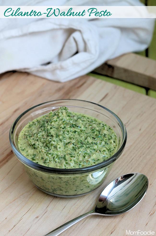 cilantro-walnut pesto recipe