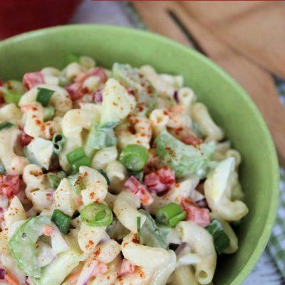 classic traditional macaroni salad