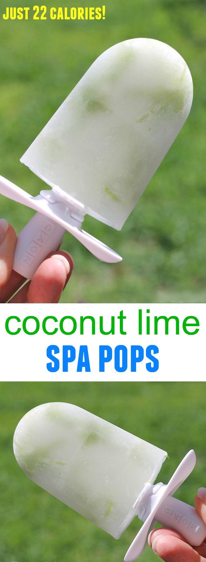coconut lime spa pops - just 22 calories