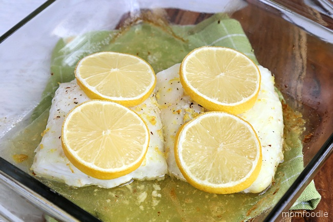cod baked with lemon
