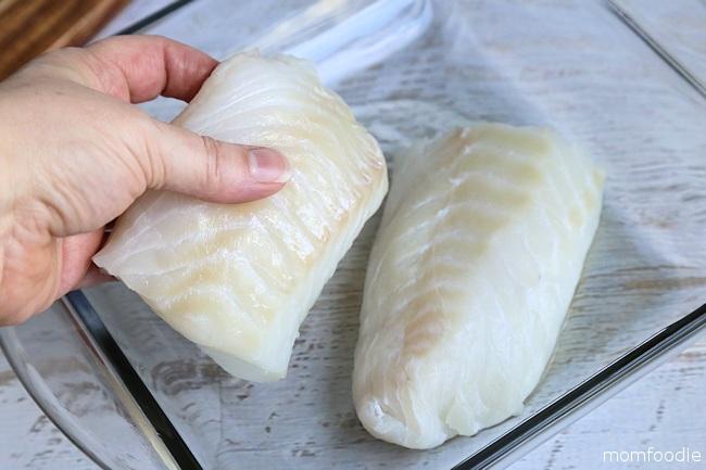 cod in baking dish