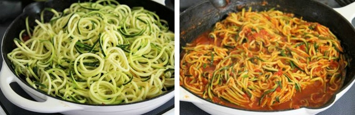 cooking zucchini noodles