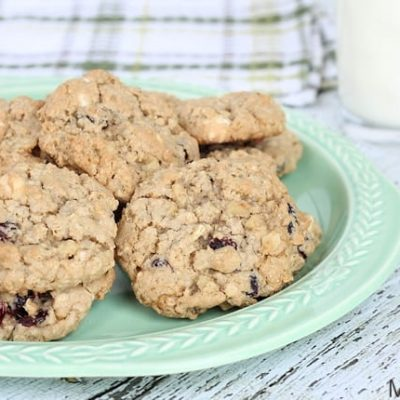 Cranberry, Walnut & White Chocolate Oatmeal Cookies Recipe