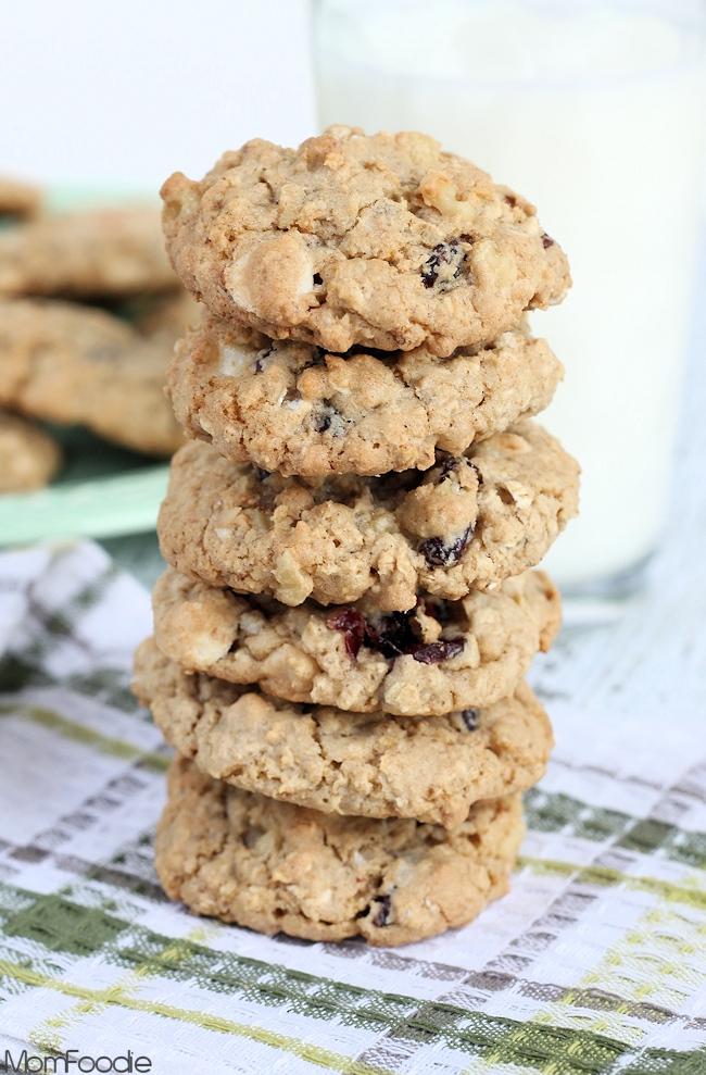 cranberry white chocolate walnut cookies