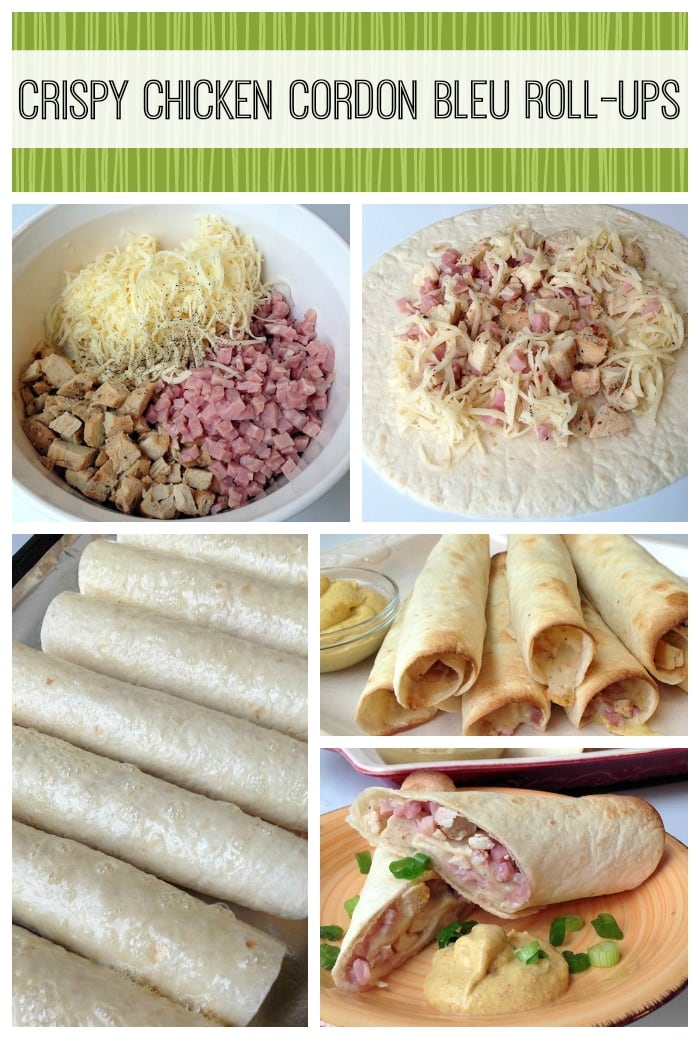 crispy chicken cordon bleu roll ups recipe