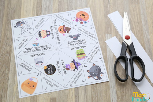 cut out cootie catcher template