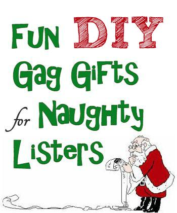 DIY Gag Christmas Gifts