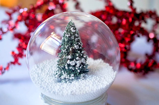 diy snow globe christmas tree