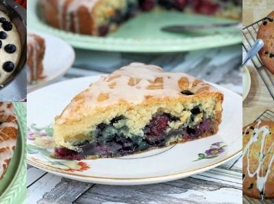 Vanilla Iced Double Berry Coffee Cake Recipe #FlavorStory