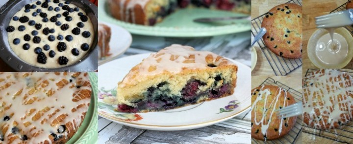 Vanilla Iced Double Berry Coffee Cake Recipe #FlavorStory