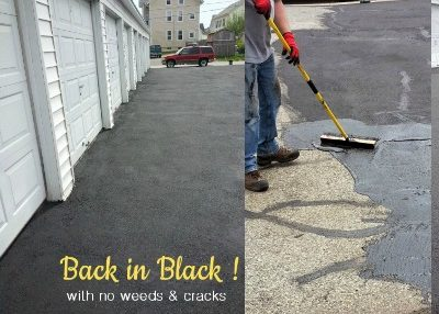 Back in Black! … Driveway Makeover Reveal