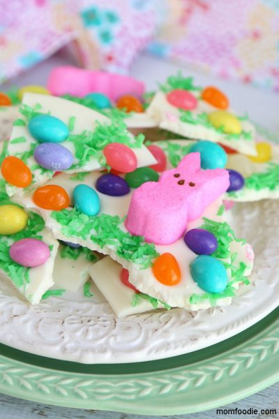 Easter Bark – Peeps Bunny White Chocolate Bark