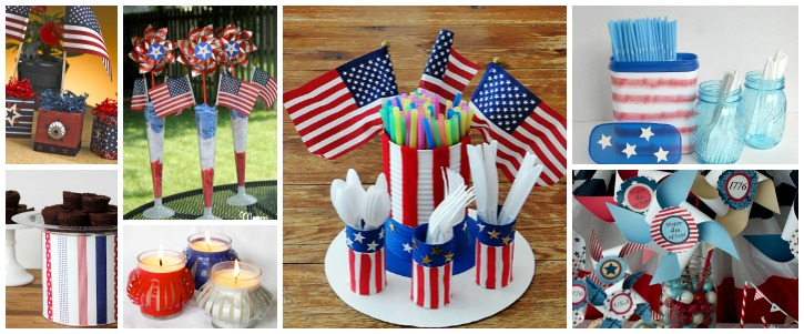 10 Easy Red, White & Blue Table Decorations