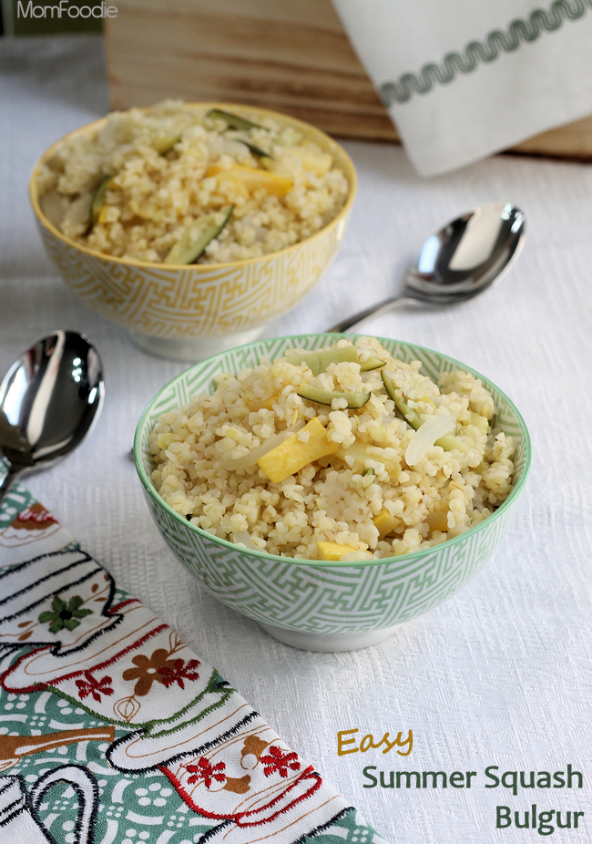easy summer squash bulgur recipe