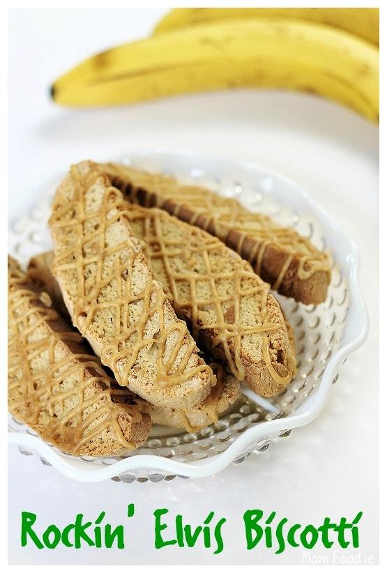 banana Peanut Butter biscotti cookies