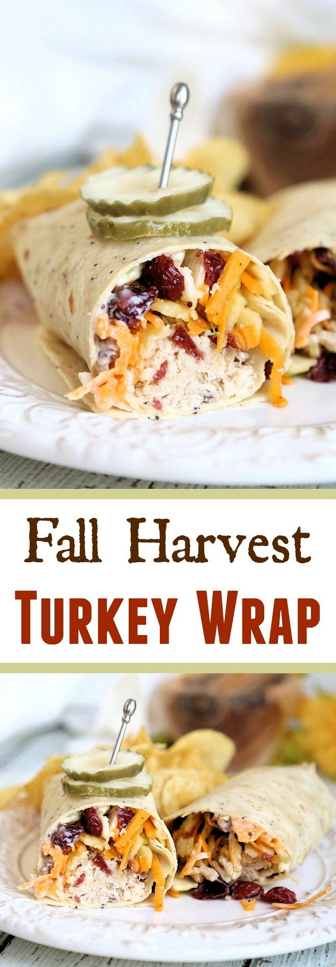 Fall Harvest Turkey Wrap - New England fall harvest flavors with maple honey turkey in a wrap