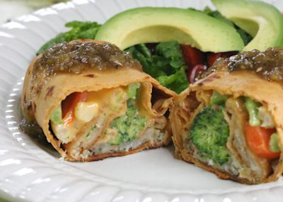 Easy Cheesy Fish & Veggie Chimichangas: A Complete Meal just 300 Calories!