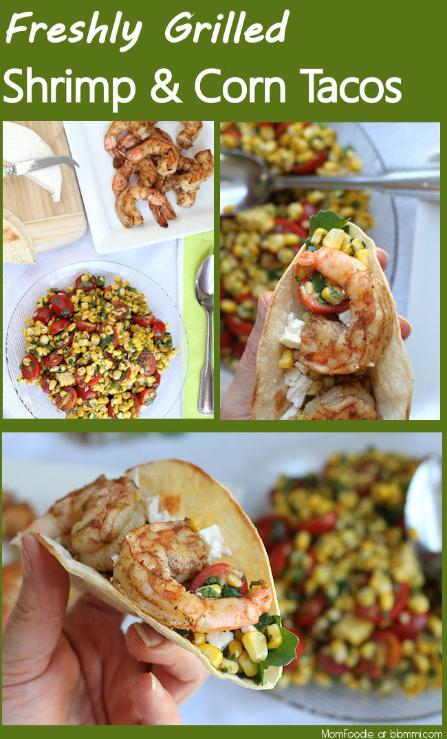 fresh grilled shrimp tacos