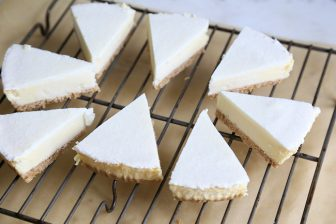 frozen cheesecake slices