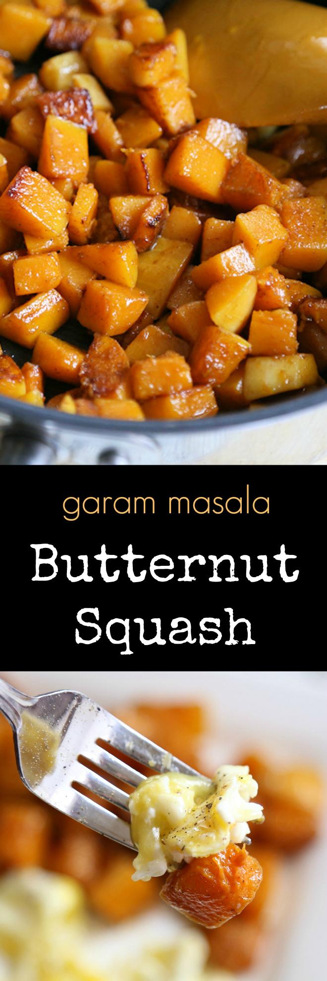 garam masala butternut squash recipe