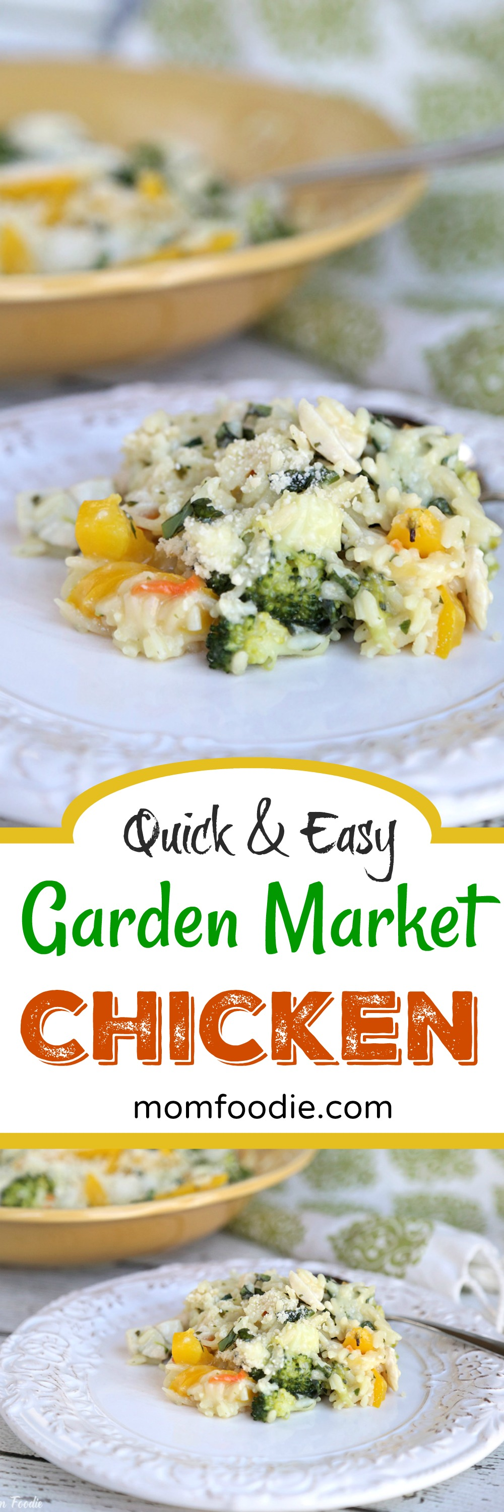 Easy Creamy Chicken Rice with fresh vegetables.  A quick meal the family will love!  You can grab all the ingredients right at #Walmart   lbx.la/Bgjz #EatBetterLiveBetter #ad #chickenrecipes