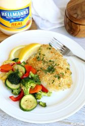 garlic crusted tilapia