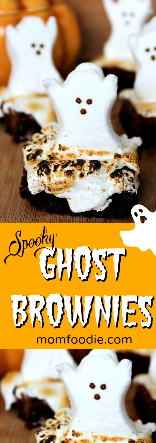 Ghost Brownies Halloween Treats - Kids will love these spooky ghost brownies!